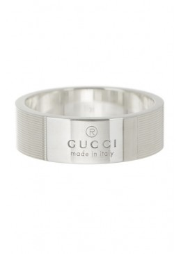 Gucci Anello Sterling Trademark Stripes